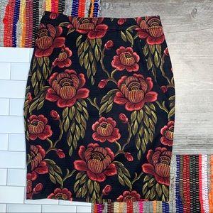 Ann Taylor Petite Rose Garden Pencil Skirt